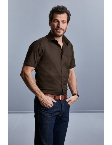 Chemise Fittée manches courtes homme...