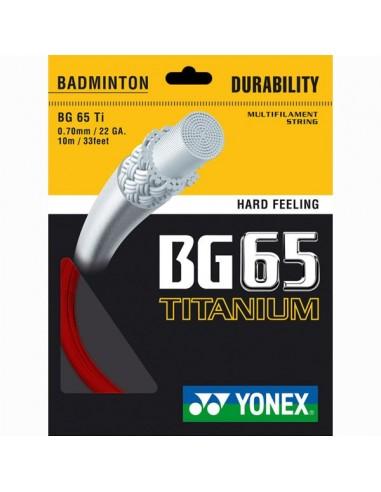 Cordage de badminton Yonex BG65Ti