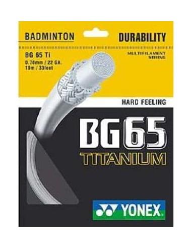 CORDAGE DE BADMINTON YONEX SET BG65 TI