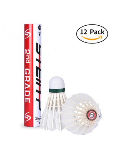 Volants de badminton plumes Steinp...