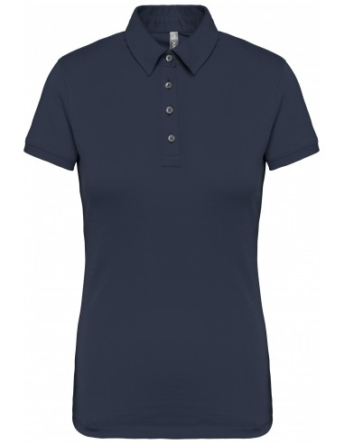 Polo jersey manches courtes femme...