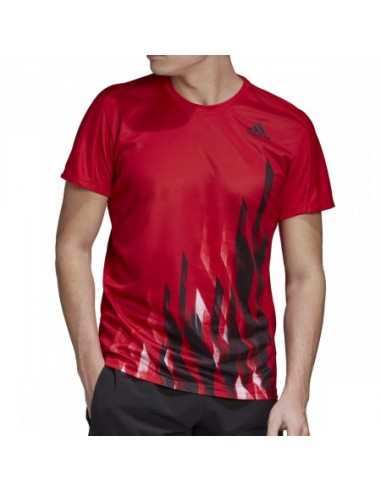 T-SHIRT ADIDAS HOMME GRAPHIC ROUGE